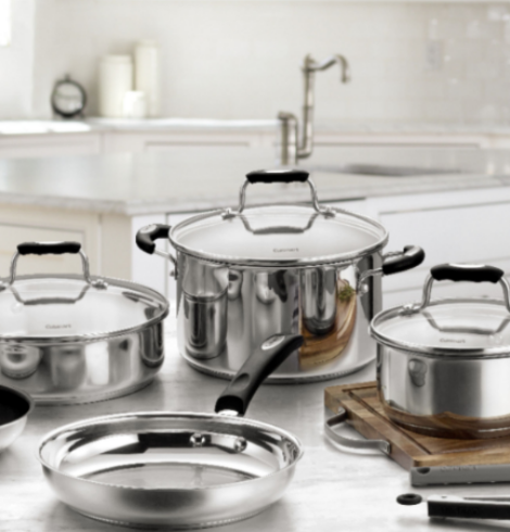 Cuisinart – 12-Piece Cookware Set – Stainless Steel – 67% Off Today Only!