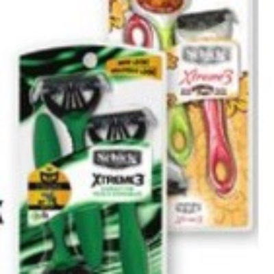 Schick Xtreme 3 ct. Razors Only $0.52 (Regular $4.85) 12/5 Only