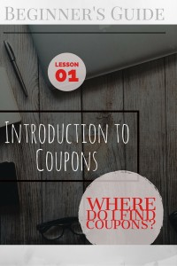 Introduction to coupon lesson one pinterest