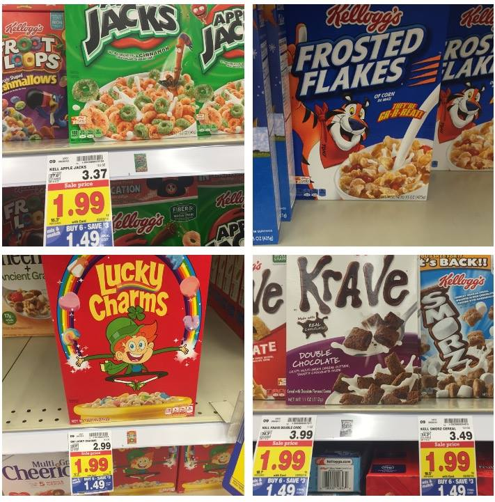Kellogg's & General Mills Cereals As Low As $0.49: Kroger