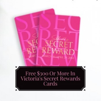 free victoria's secret rewards card deal