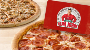 Papa Johns Deal: Get a $25 Gift Card + Two Free Large Pizzas for $25 ($55 Value) AND 50% Off Pizzas NOW!