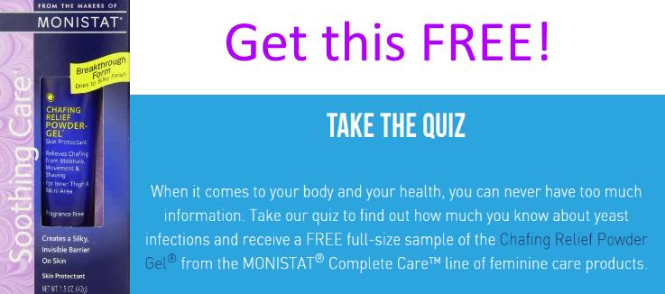 Free monistat samples