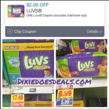 luvs coupon kroger deal
