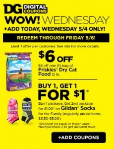Digital cat food coupons