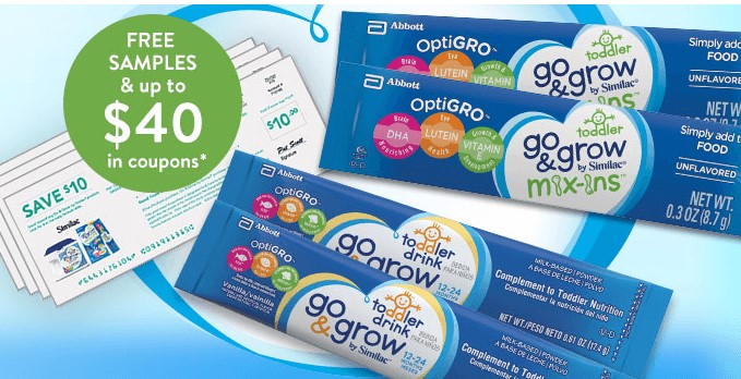 Free Go & Grow Samples for Toddlers + $40 in Coupons