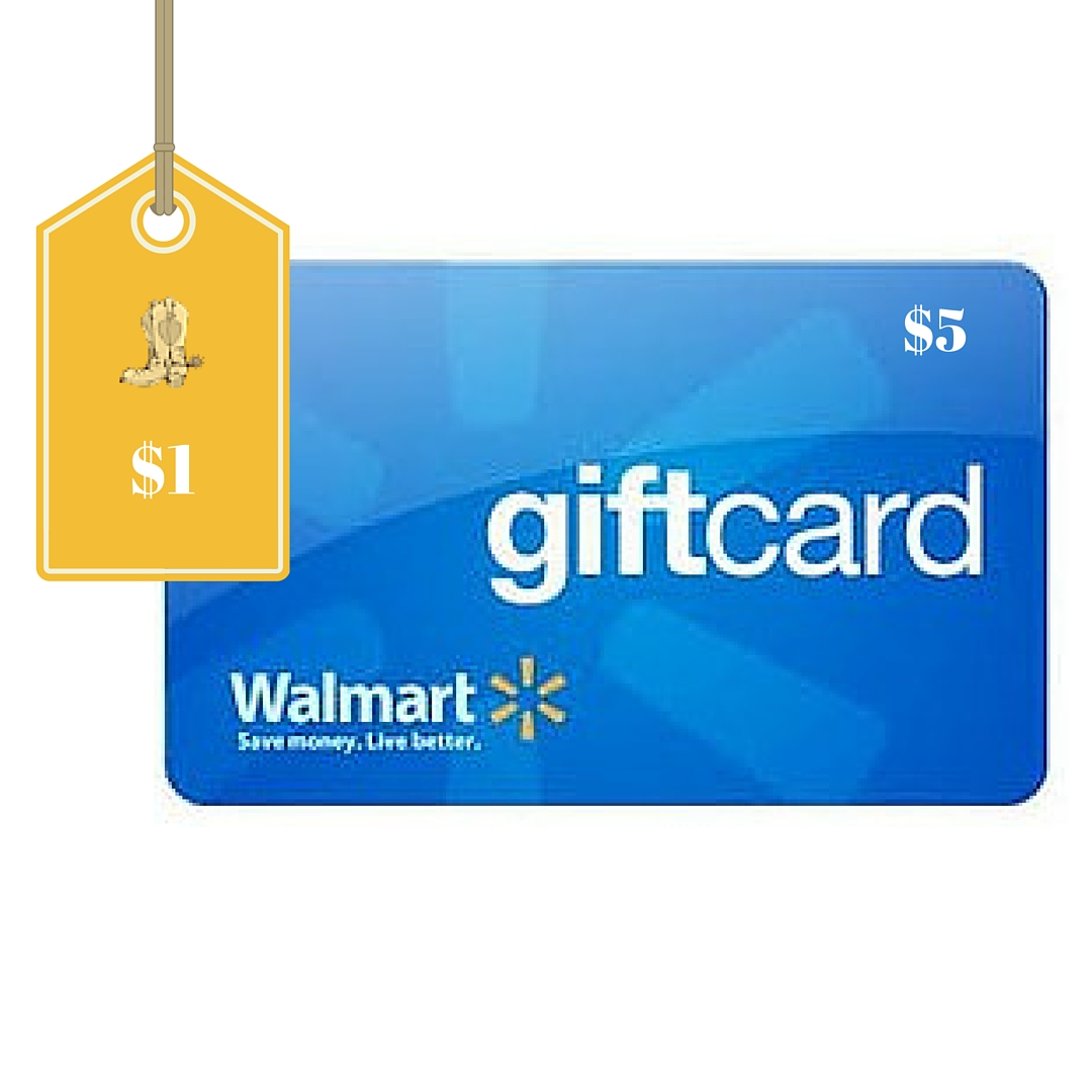 $5 Walmart Gift Card Only $1