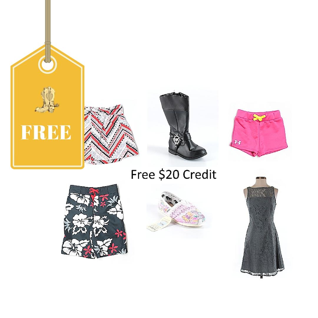 ThredUP FREE $20 Credit For New Members = Free Name Brand