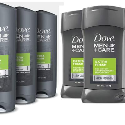 Dove Men + Hair Care Body Wash & Deodorant Deals!