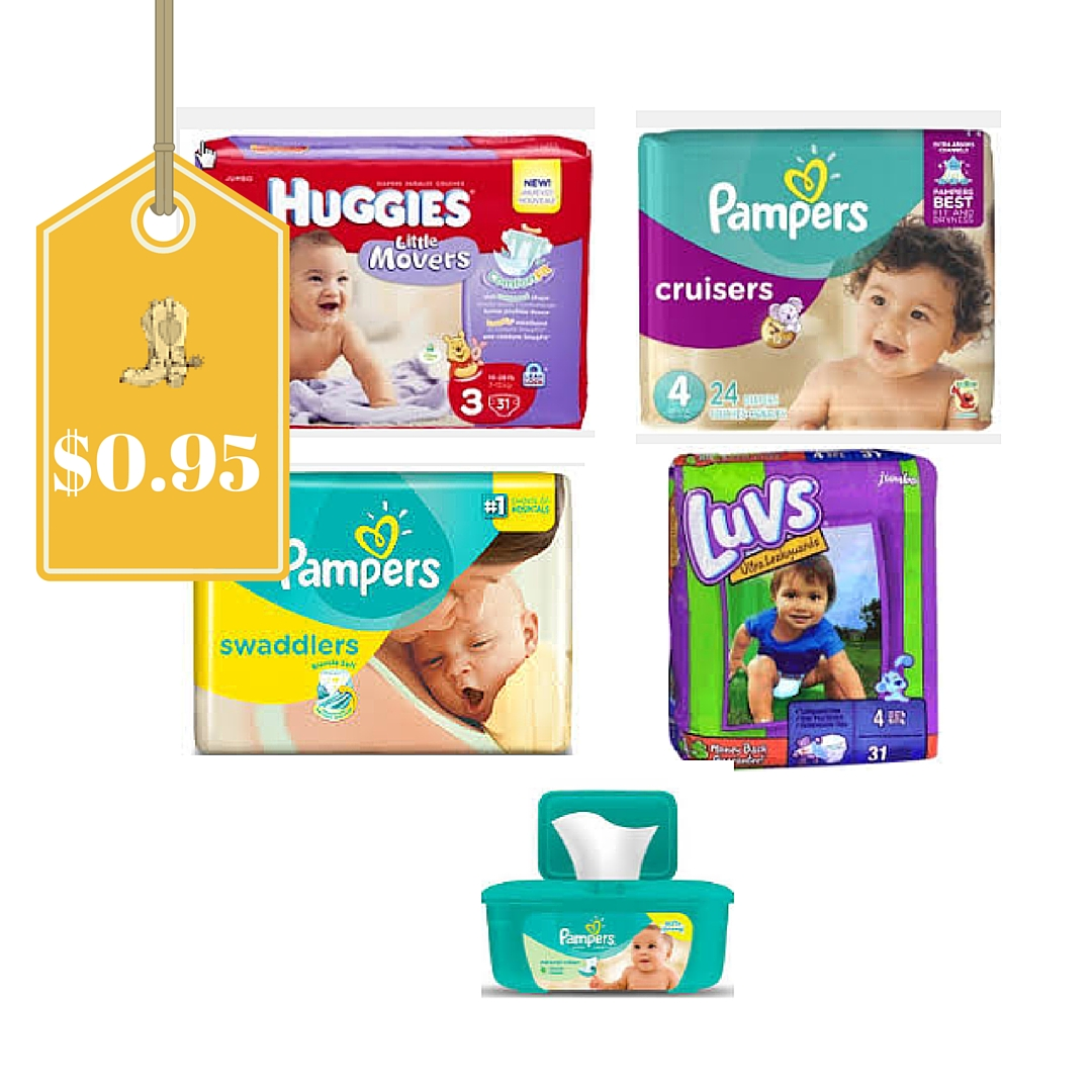 Four Packs Of Diapers And One Wipes Only 15 95 At Kroger
