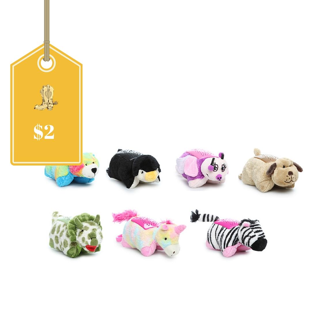 Pillow Pets Mini Dream Lites Only 2 Regular 7