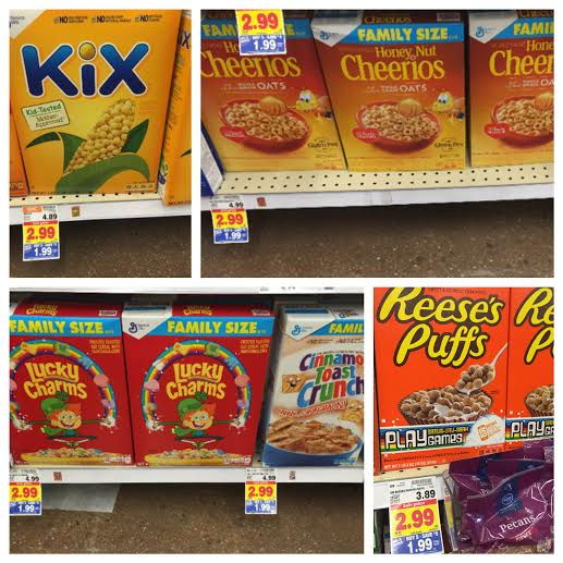 General Mills Family Sizes Boxes Of Cereal As Low As $0.99
