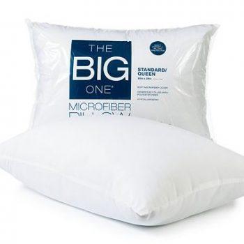 the big one microfiber pillows only regular. Black Bedroom Furniture Sets. Home Design Ideas