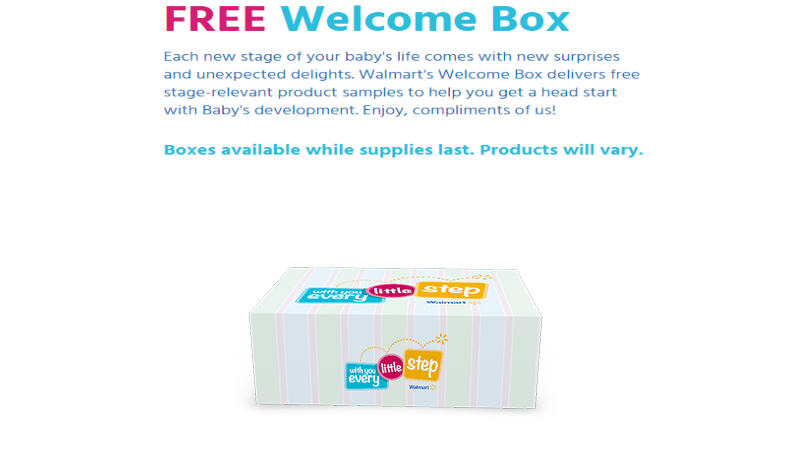 Free Baby Welcome Box from Walmart - Dixie Does Deals