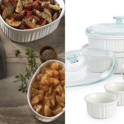Corningware French White 10-Pc. Bakeware Set Only $29.99 (Regular $79.99)