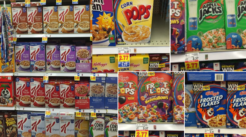 Kellogg S Cereal Only 0 77 At Kroger New Coupons And Offers