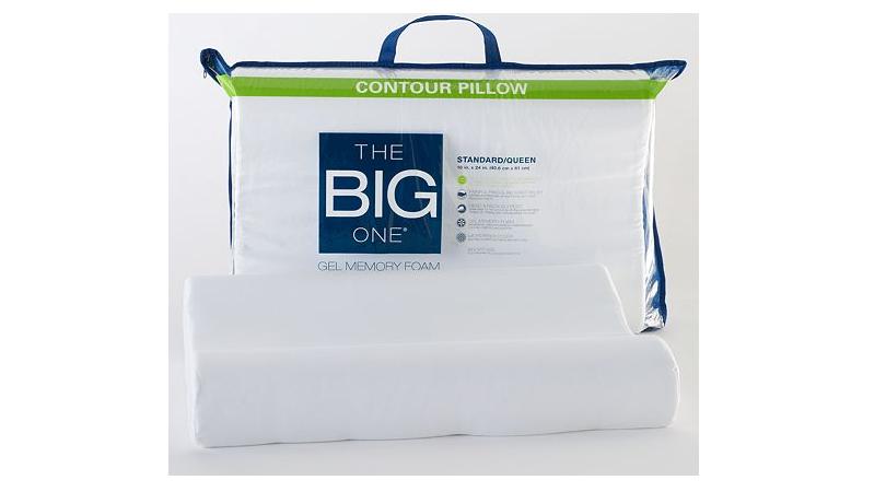 the big one gel memory foam contour pillow only regular. Black Bedroom Furniture Sets. Home Design Ideas