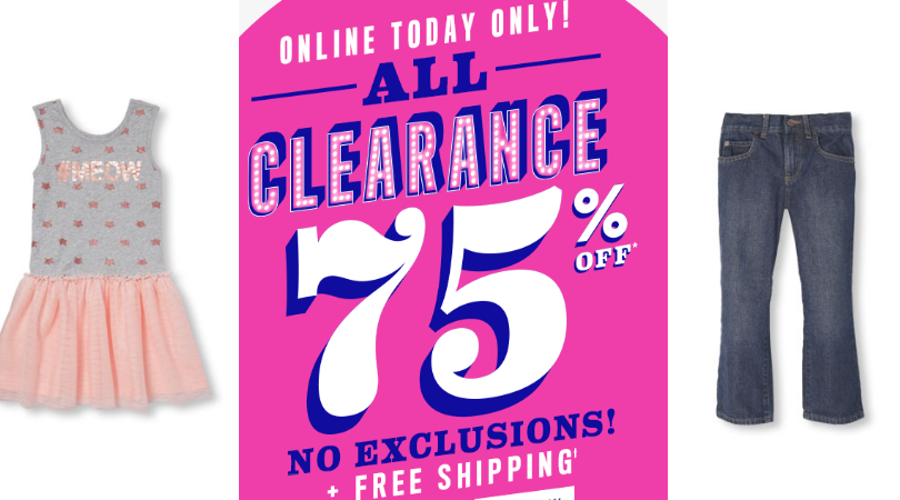 a237aa59096a4 The Children s Place 75 – 80% Off All Clearance + Free Shipping – Today  Only!