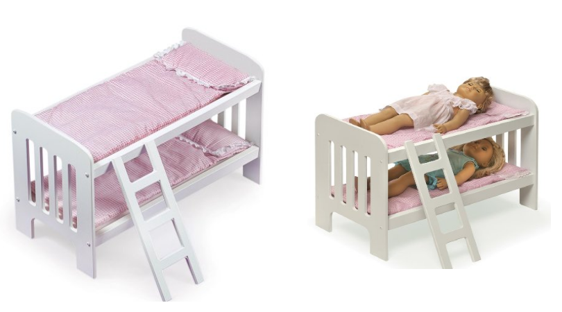 Badger Basket Doll Bunk Bed With Trundle