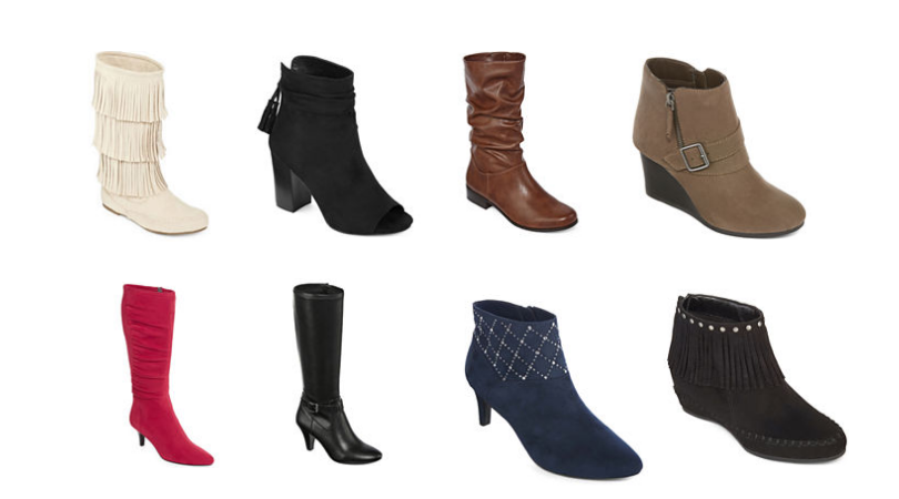 e0d2ec8f686 JCPenney Women's Boots Only $19.99 (Regular up to $120): Black ...