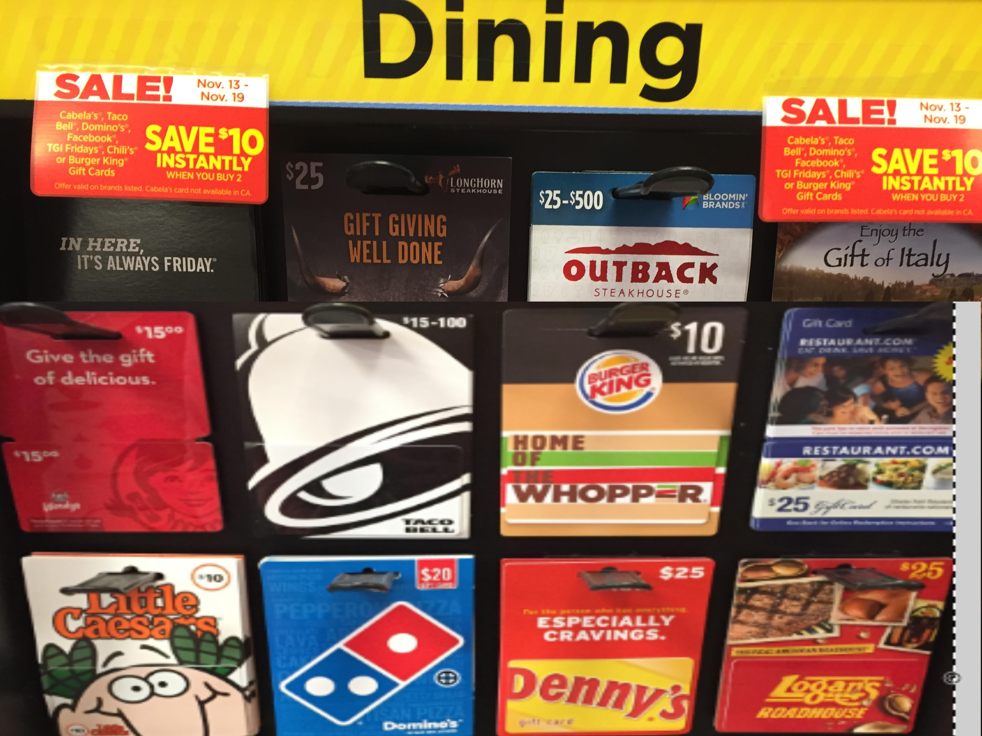 $20 In Burger King Gift Cards Only $10 at Dollar General