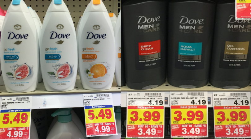 Dove Body Wash Only $0.49 Each at Kroger