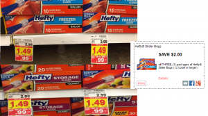 Hefty Slider Bags Only $0.32 at Kroger (Regular $2.99)