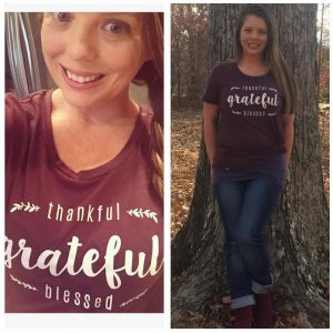 "Free Cents Of Style ""Thankful, Grateful, Blessed"" Shirt With Any $25 Purchase ($29.95 Value)"