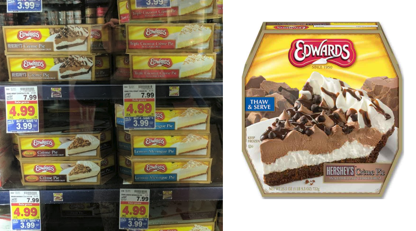 photograph regarding Edwards Pies Printable Coupons named Edwards Pies as lower as $2.99 at Kroger Mega Sale (Regular monthly $7.99)