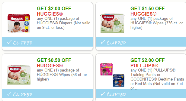 Manufacturer coupons for huggies diapers