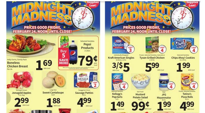Food City Midnight Madness Sale Paper