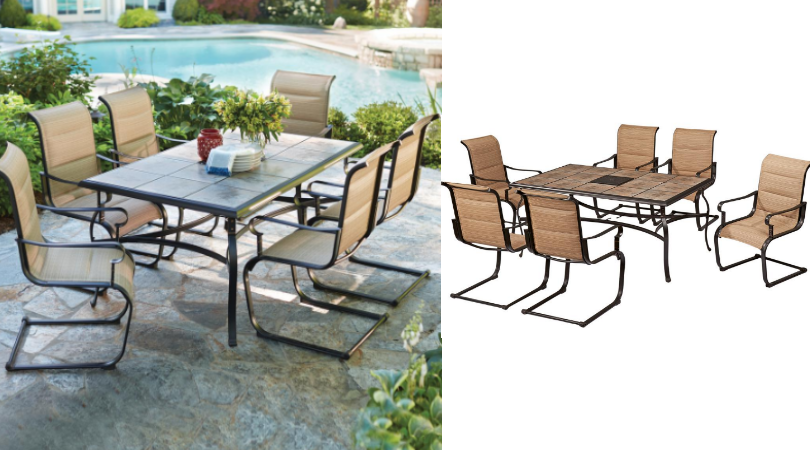 Hurry Over To Home Depot For Their Spring Black Friday Sale! This  Belleville 7 Piece Padded Sling Outdoor Dining Set Is On Sale For $299  (regular ...