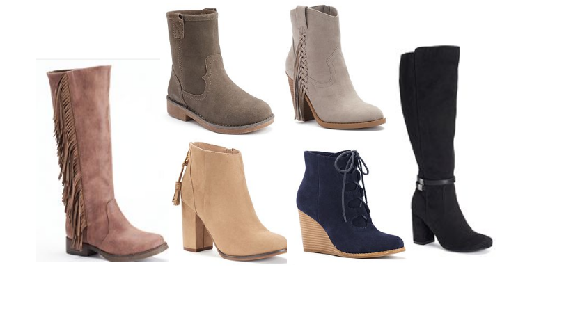five pairs of boots only 50 36 shipped earn 10 kohl s