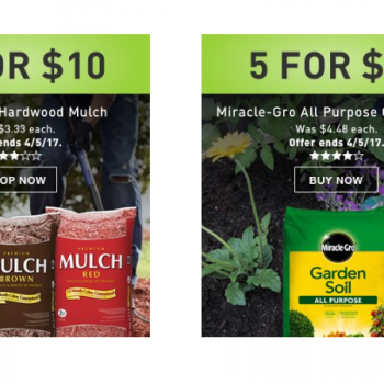 Lowes mulch or miracle grow garden soil only 2 regular for Garden soil for sale