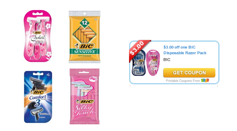 graphic about Bic Printable Coupons referred to as Fresh new $3/1 Bic Razor Coupon \u003d Superior Than Absolutely free Razors at Walmart