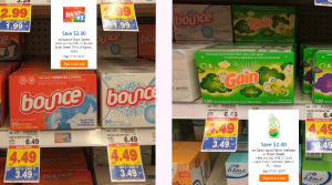 Bounce & Gain Dryer Sheets 60-120 ct. Only $1.49 at Kroger With Digital Coupons (Regular $6.49)