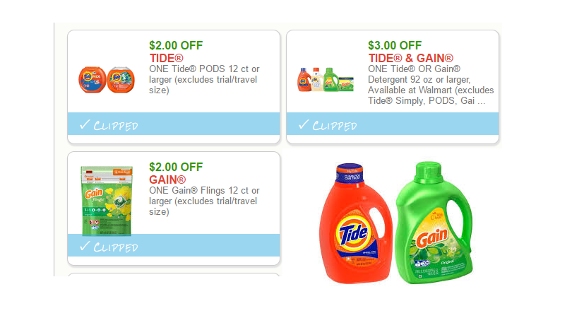 Three New High Value Tide Gain Coupons