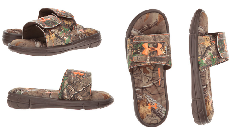 Dick's Sporting Goods has these Under Armour Men's Ignite IV Camo Slides on  sale for $19.97 (regular $39.99). They are currently available in sizes  7-14 but ...