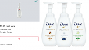 Free Dove Shower Foam at Walmart!