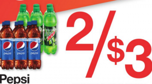 Pepsi & Mtn Dew 6 Bottles Only $1.50 Saturday Only at Kroger! Just $0.25 Per Bottle!