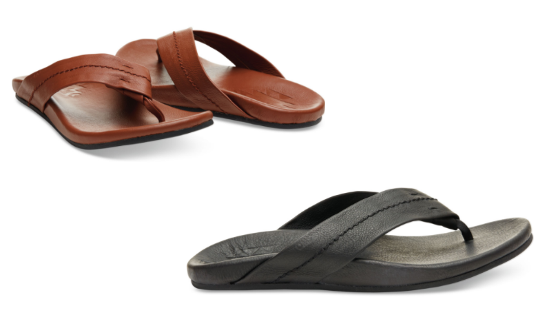 dc5b11a37b Just in time for Father's Day, hurry over to Toms' 1 Day Sunrise Sale with  items up to 75% off! I spotted these Leather Men's Semana Flip Flops for  just ...