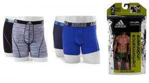 Men's adidas 2-pack ClimaLite Underwear Only $11.06 (Regular $26)
