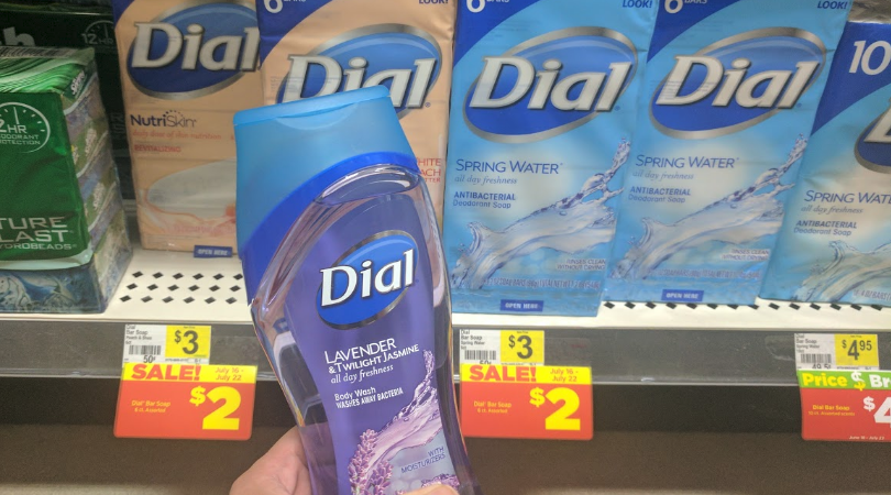 picture about Dial Printable Coupon identify Dial Overall body Clean or 6 ct. Bar Cleaning soap Simply just $0.50 at Greenback Overall