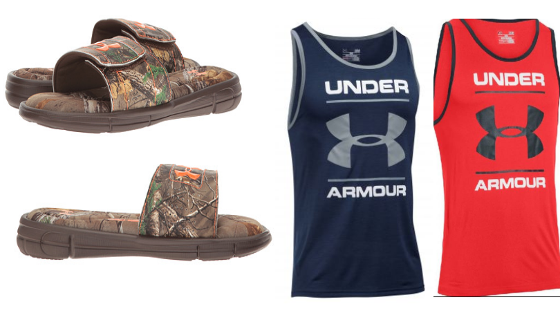 Men 39 s under armour ignite slides only sleeveless for Under armour men s shirts clearance