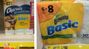 Bounty Paper Towels 6 Big Rolls and Charmin Bath Tissue 12 Double Rolls Only $2.70 Each at Dollar General!