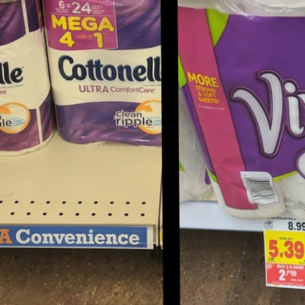 Cottonelle, Scott & Viva Packs as low as $4 at Kroger (Regular up to $10.99)