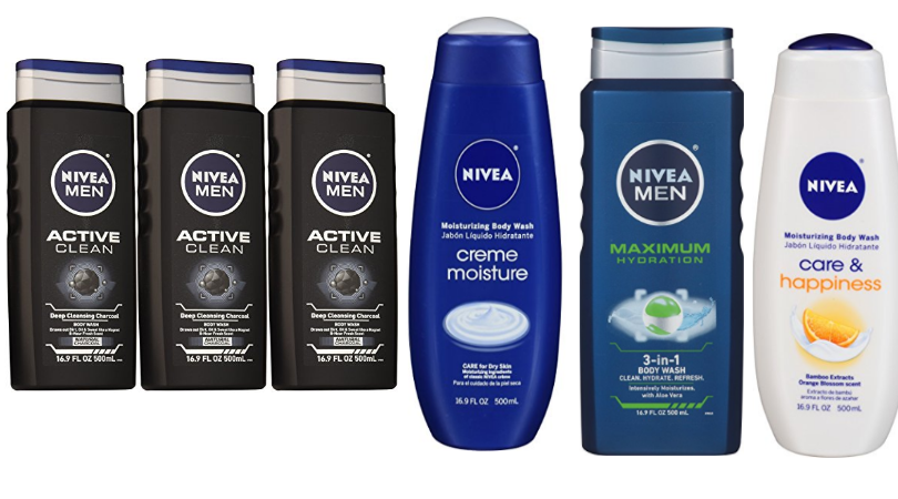 3 Bottles of Nivea Body Wash as low as $6!