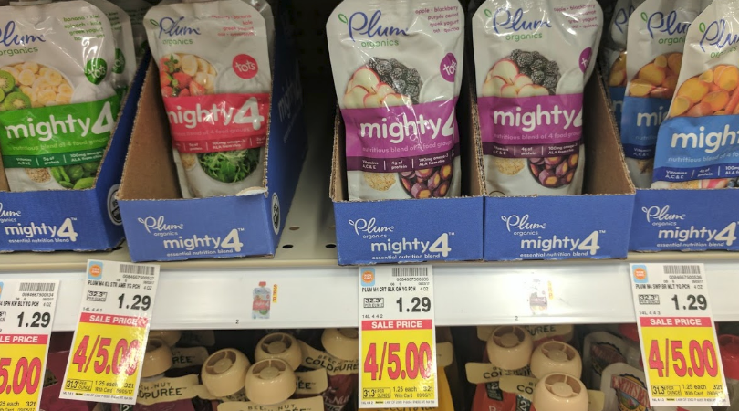 graphic about Plum Organics Printable Coupon known as Clean $5/5 Plum Organics Coupon \u003d Cost-free Boy or girl Foods Pouches at