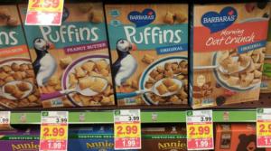 FREE + Money Maker Barbara's Puffins Cereal at Kroger Mega Sale!