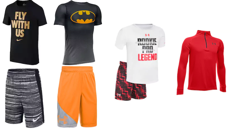 Hot clearance deals on boys nike under amour shorts for 10 dollar nike shirts